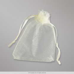 90x70 mm Milk White Organza Bag