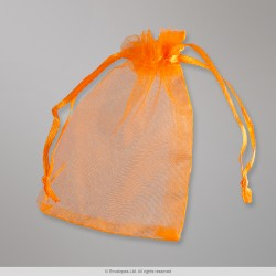 90x70 mm Orange Organza Bag