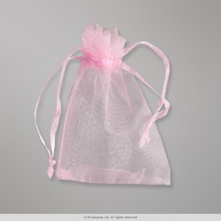 90x70 mm Pink Organza Bag