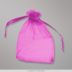90x70 mm Rose Organza Bag
