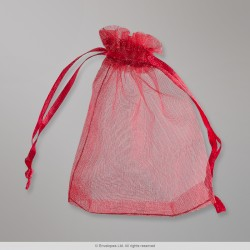 90x70 mm Red Organza Bag
