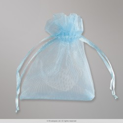 90x70 mm Sky Blue Organza Bag