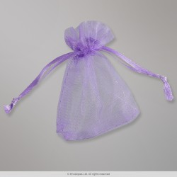90x70 mm Violet Organza Bag