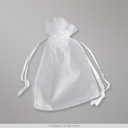 90x70 mm White Organza Bag