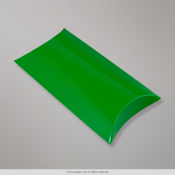 113x81+35 mm (C7) Green Pillow Box, Green, Peel and Seal