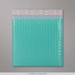 165x165 mm Robin Egg Blue Poly Gloss Bubble Bag
