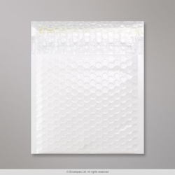 165x165 mm White Poly Gloss Bubble Bag, White, Peel and Seal