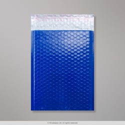 250x180 mm Blue Poly Gloss Bubble Bag