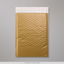 250x180 mm Gold Poly Gloss Bubble Bag