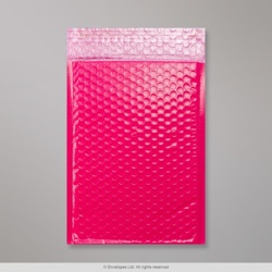 250x180 mm Pink Poly Gloss Bubble Bag