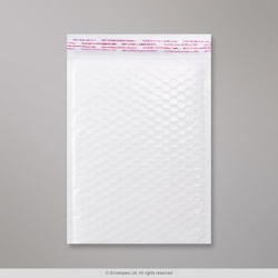 250x180 mm White Poly Gloss Bubble Bag