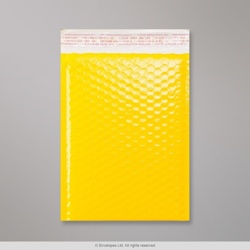 250x180 mm Yellow Poly Gloss Bubble Bag