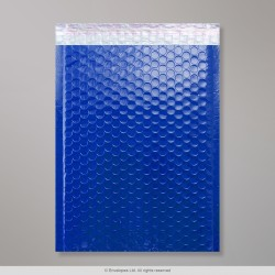 340x240 mm Blue Poly Gloss Bubble Bag