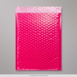 340x240 mm Pink Poly Gloss Bubble Bag
