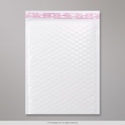 340x240 mm White Poly Gloss Bubble Bag