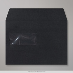 162x229 mm (C5) Black Post Marque Wallet Envelope