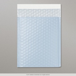 324x230 mm (C4) Pale Blue Translucent Poly Matt Bubble Bag