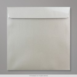 220x220 mm Silver Pearlescent Envelope, Silver, Peel and Seal