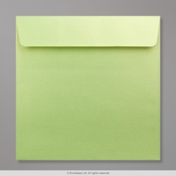 170x170 mm Lime Pearlescent Envelope