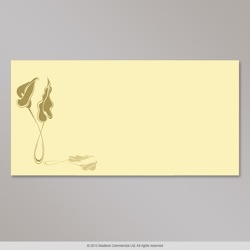 110x220 mm (DL) Ivory envelope with gold lily