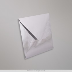 130x130 mm Silver Mirror Finish Envelopes, Silver, Gummed