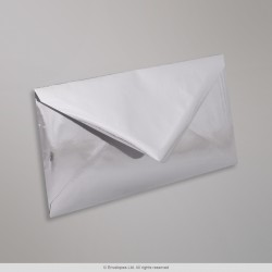 110x220 mm (DL) Silver Mirror Finish Envelopes