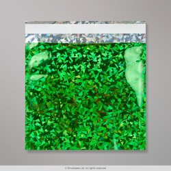 165x165 mm Green Holographic Foil Bag