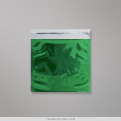 165x165 mm Green Foil Bag, Green, Peel and Seal