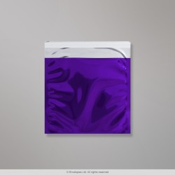 165x165 mm Purple Foil Bag, Purple, Peel and Seal