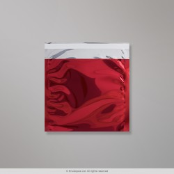 165x165 mm Red Foil Bag, Red, Peel and Seal