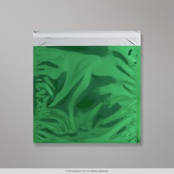 220x220 mm Green Foil Bag, Green, Peel and Seal