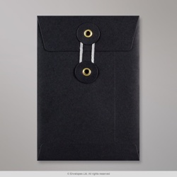 162x114 mm (C6) String & Washer Black Envelope