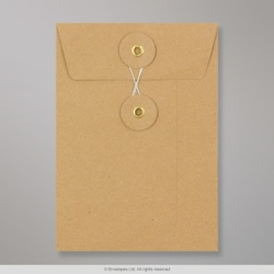 162x114 mm (C6) String & Washer Manilla Envelope
