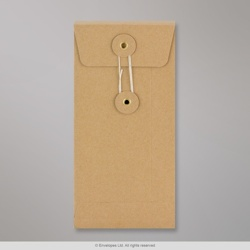 220x110x25 mm (DL) String & Washer Manilla Gusset Envelope