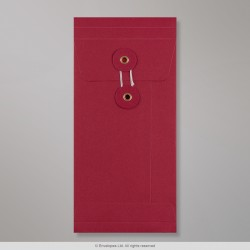220x110x25 mm (DL) String & Washer Red Gusset Envelope