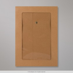 SW229-FV - 229x162 mm (C5) String & Washer Manilla Envelope Full Window