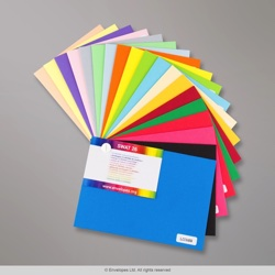 Clariana Coloured Envelopes - SWATCH, Various, Peel and Seal