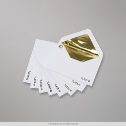 Foil and Fancy Paper Lined White Envelopes - swatch