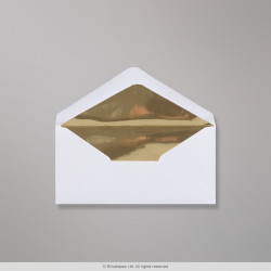 70x140 mm White Envelope Lined With Gold Foil