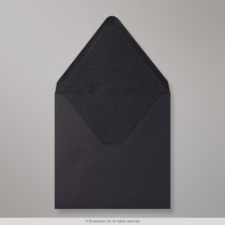 160x160 mm Black Envelope Lined With Black Fancy Paper