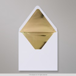 160x160 mm White Envelope Lined With Gold Foil