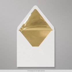 160x160 mm Ivory Envelope Lined With Gold Foil