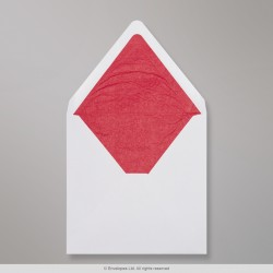 160x160 mm White Envelope Lined With Red Fancy Paper