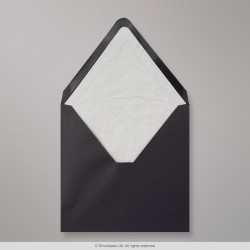 160x160 mm Black Envelope Lined With White Fancy Paper