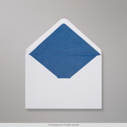 62x94 mm White Envelope Lined With Blue Fancy Paper