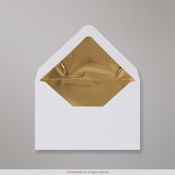 62x94 mm White Envelope Lined With Gold Foil