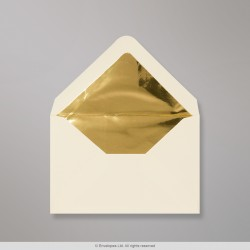 62x94 mm Ivory Envelope Lined With Gold Foil
