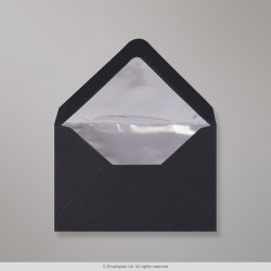 62x94 mm Black Envelope Lined With Silver Foil