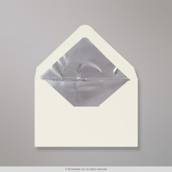 62x94 mm Ivory Envelope Lined With Silver Foil
