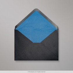 162x229 mm (C5) Black Envelope Lined With Blue Fancy Paper
